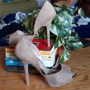 Zara tan party heel